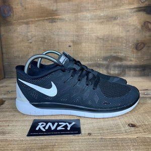 Nike Free 5.0 Black Lace Up Athletic Sneakers